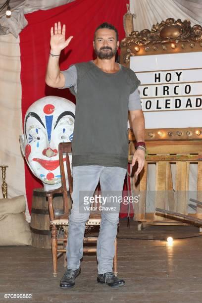 Singer Ricardo Arjona attends a press conference to promote his new album 'Circo Soledad' at Estacion Indianillas on April 20 2017 in Mexico City...