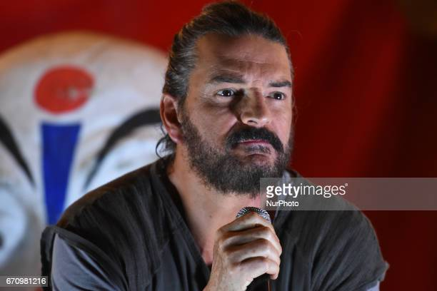 Singer Ricardo Arjona is seen during a press conference to promote the latest album 'Circo Soledad' at Estacion Indianilla on April 20 2017 in Mexico...