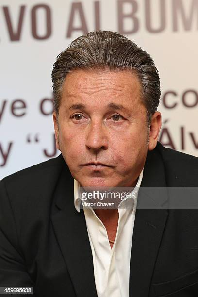 Singer Ricardo Montaner attends a press conference to promote his new album Agradecido at W Hotel Mexico City on November 25 2014 in Mexico City...