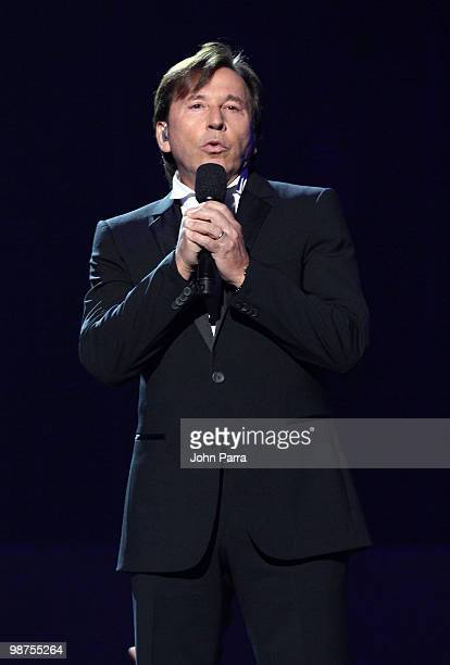 Singer Ricardo Montaner performs onstage at the 2010 Billboard Latin Music Awards at Coliseo de Puerto Rico José Miguel Agrelot on April 29 2010 in...
