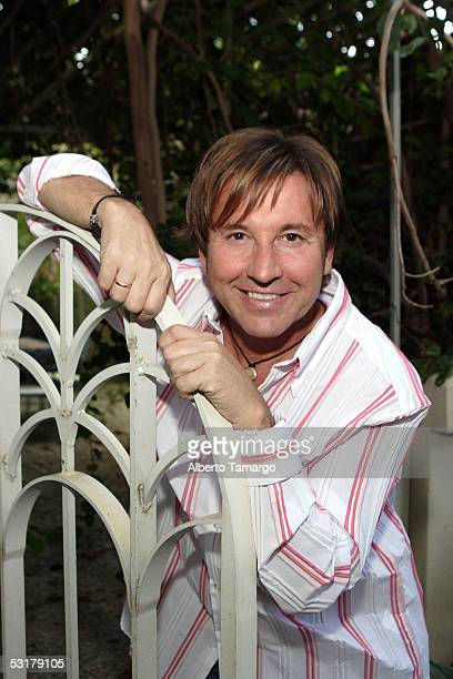 Singer Ricardo Montaner poses at his home on June 30 2005 in Miami Beach Florida