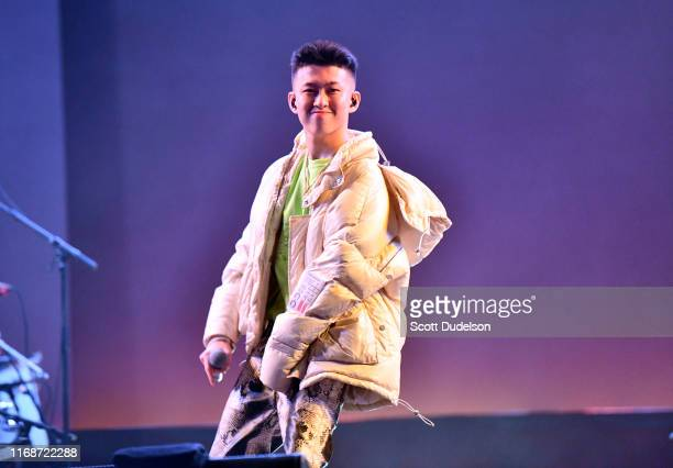 Singer Rich Brian performs onstage during the Head in the Clouds Festival by 88 Rising at Los Angeles State Historic Park on August 17 2019 in Los...