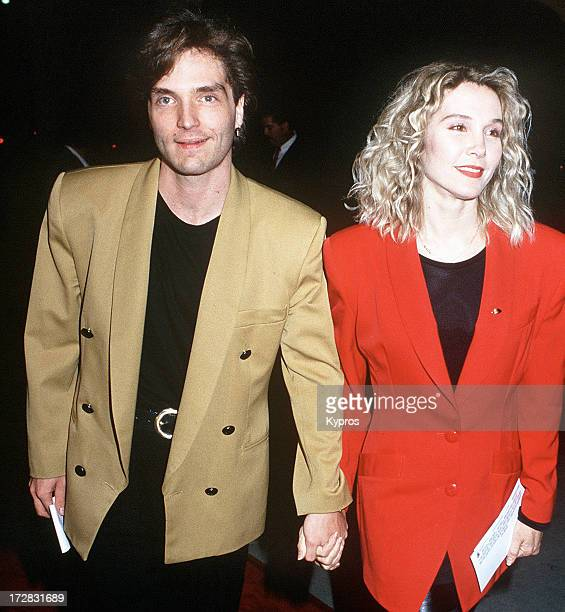Singer Richard Marx with his wife actress and singer Cynthia Rhodes 1993