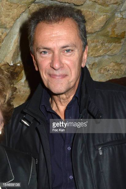 Singer Richard Senderson attends the 'Les 10 Ans de Marc Mitonne' Party Hosted by '2 Mains Rouges' at the Marc Mitonne Restaurant on October 23 2012...