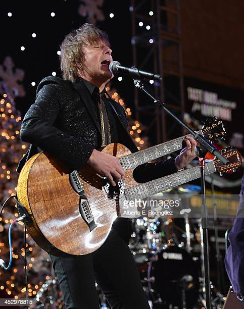 Singer Richie Sambora performs at the 82nd Annual Hollywood Christmas Parade on December 1 2013 in Hollywood California