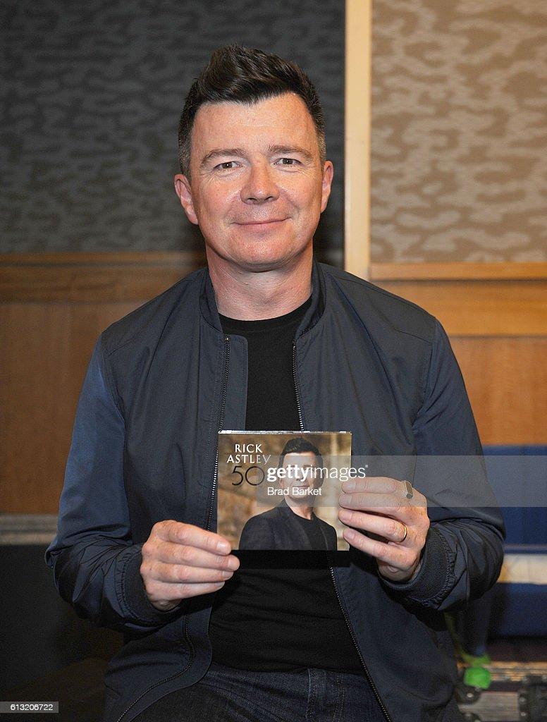 "Rick Astley Signs Copies Of His New Album ""50"""