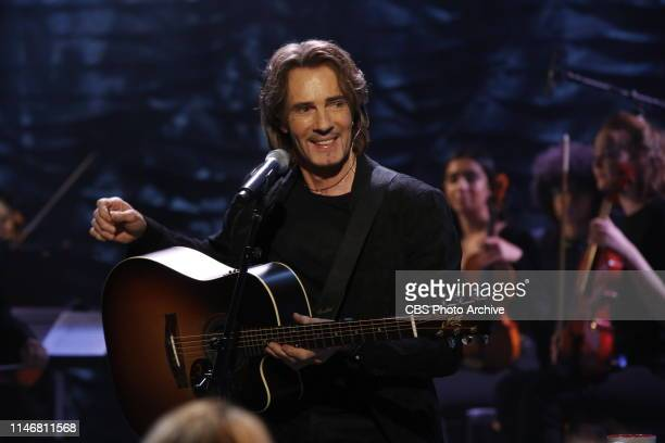 """Singer Rick Springfield performs on """"The Talk,"""" Wednesday, May 22, 2019 on the CBS Television Network."""