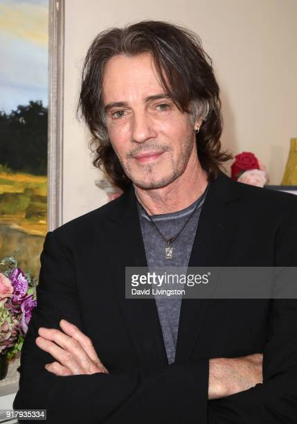 """Singer Rick Springfield visits Hallmark's """"Home & Family"""" at Universal Studios Hollywood on February 13, 2018 in Universal City, California."""