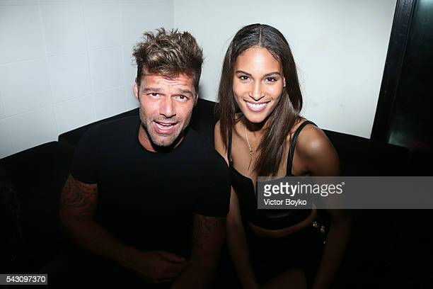 Singer Ricky Martin and Cindy Bruna attend the Balmain Menswear Spring/Summer 2017 after party as part of Paris Fashion Week at Les Bains on June 25...