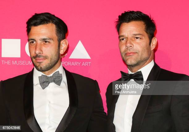 Singer Ricky Martin and Jwan Yosef attend the MOCA Gala 2017 at The Geffen Contemporary at MOCA on April 29 2017 in Los Angeles California
