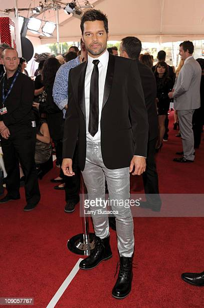 Singer Ricky Martin arrives at The 53rd Annual GRAMMY Awards held at Staples Center on February 13, 2011 in Los Angeles, California.