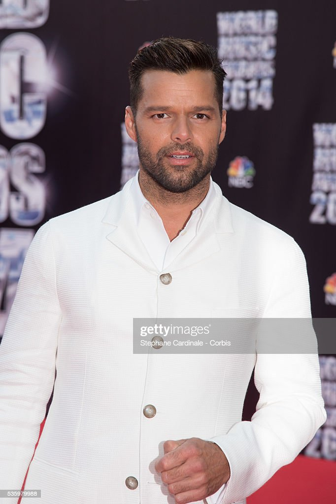 Singer Ricky Martin arrives at the World Music Awards at Sporting Monte-Carlo on May 27, 2014 in Monte-Carlo, Monaco.