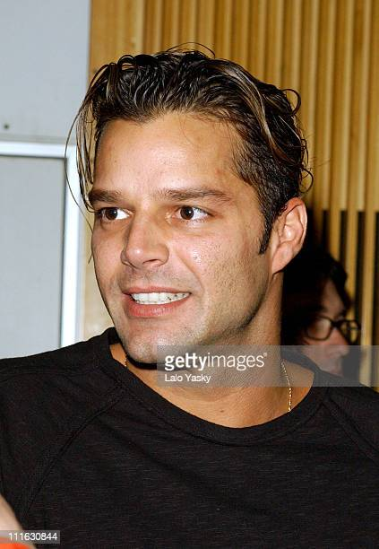 Singer Ricky Martin Attends Several FM Radio Interviews at '40 Principales' and 'Cadena Dial' Stations at the SER Studios in Madrid