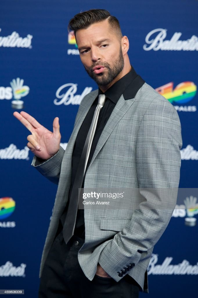 Singer Ricky Martin attends the '40 Principales Awards' 2013 photocall at Palacio de los Deportes on December 12, 2013 in Madrid, Spain.