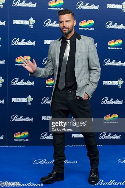 Singer Ricky Martin attends the 40 Principales Awards 2013 photocall at Palacio de los Deportes on December 12 2013 in Madrid Spain