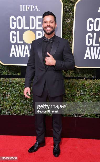 Singer Ricky Martin attends The 75th Annual Golden Globe Awards at The Beverly Hilton Hotel on January 7 2018 in Beverly Hills California