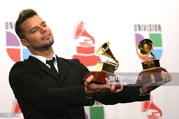 Singer Ricky Martin in the 8th Annual Latin GRAMMY Awards press room at Mandalay Bay on November 8 2007 in Las Vegas Nevada