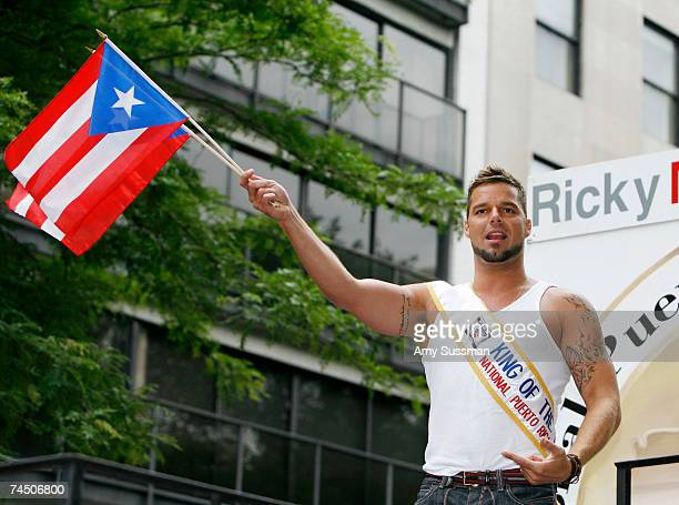 Singer Ricky Martin participates in the 50th Anniversary of the National Puerto Rican Day Parade along 5th Avenue on June 10 2007 in New York City