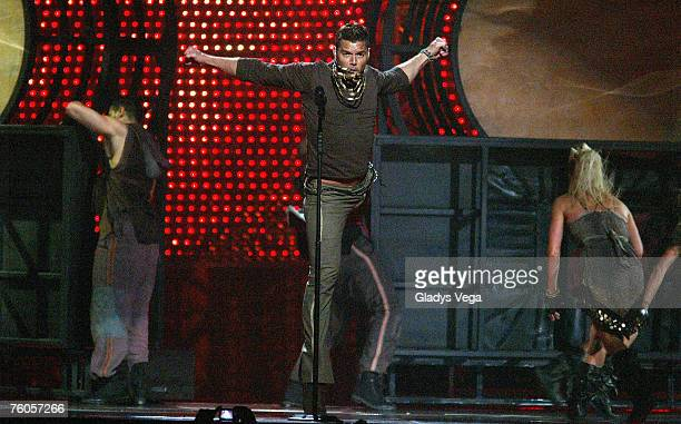 Singer Ricky Martin performs on Blanco y Negro Tour live at the Coliseo de Puerto Rico, Jose M. Agrelot on August 10, 2007 in San Juan, Puerto Rico.