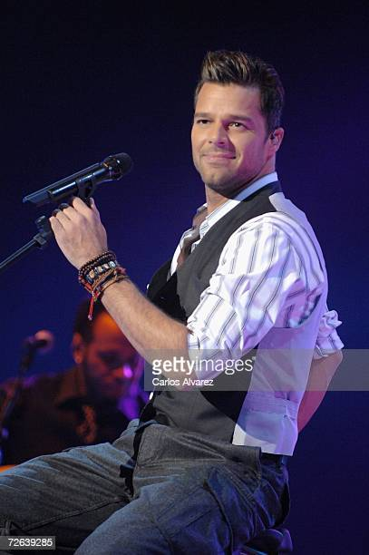 Singer Ricky Martin performs on stage during the 53rd Ondas Awards ceremony at Teatre Musical on November 23 2006 in Barcelona Spain