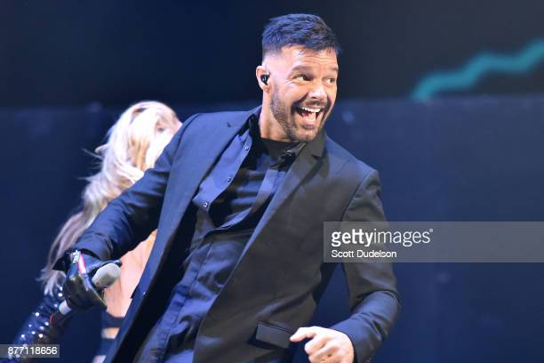Singer Ricky Martin performs onstage during Uforia's KLove Live concert at The Forum on November 19 2017 in Inglewood California