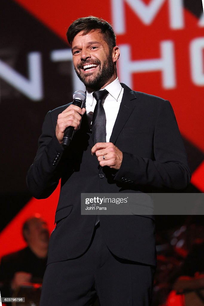 Singer Ricky Martin presents the Person of the Year award onstage during the 2016 Person of the Year honoring Marc Anthony at MGM Grand Garden Arena on November 16, 2016 in Las Vegas, Nevada.