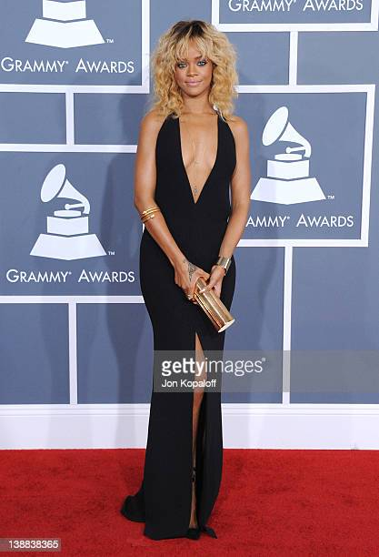Singer Rihanna arrives at 54th Annual GRAMMY Awards held the at Staples Center on February 12 2012 in Los Angeles California