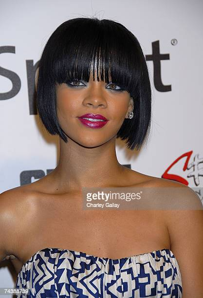 Singer Rihanna arrives at JayZ and GIANT Magazine's MTV Movie Awards After Party at Sugar on June 3 2007 in Los Angeles in Los Angeles California