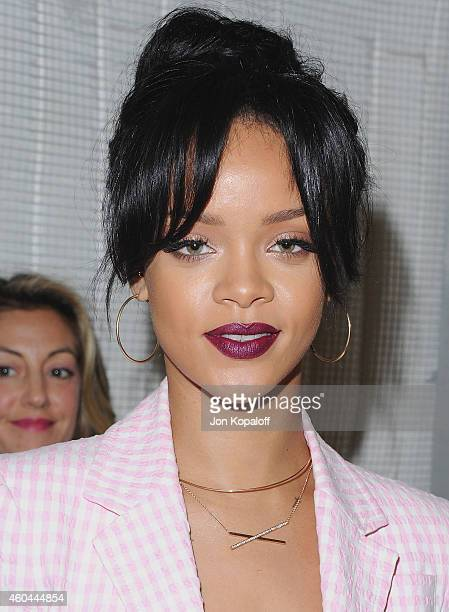 Singer Rihanna arrives at MAC Cosmetics And The MAC AIDS Fund Present It's Not Over Premiere at Quixote Studios on November 18 2014 in Los Angeles...