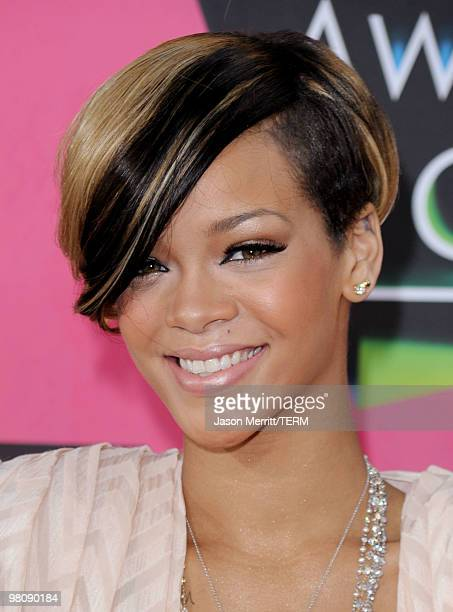 Singer Rihanna arrives at Nickelodeon's 23rd Annual Kids' Choice Awards held at UCLA's Pauley Pavilion on March 27 2010 in Los Angeles California