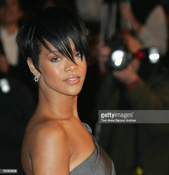 Singer Rihanna arrives at the 2008 NRJ Msic Awards on January 26 2008 in Cannes France
