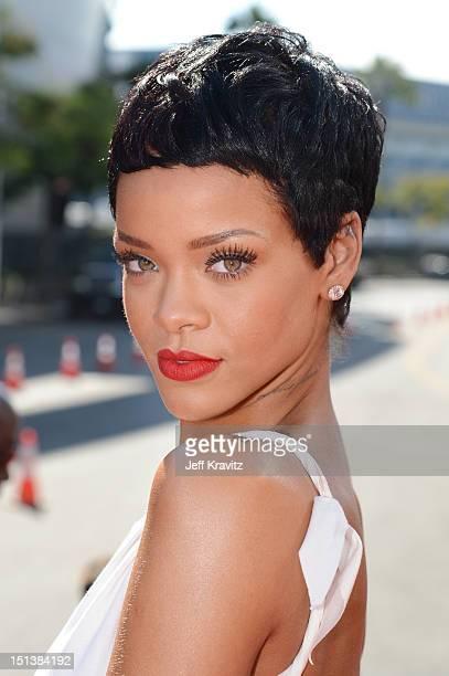 Singer Rihanna arrives at the 2012 MTV Video Music Awards at Staples Center on September 6 2012 in Los Angeles California