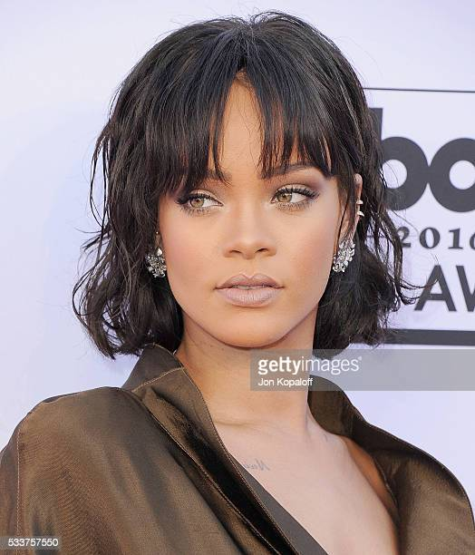Singer Rihanna arrives at the 2016 Billboard Music Awards at TMobile Arena on May 22 2016 in Las Vegas Nevada