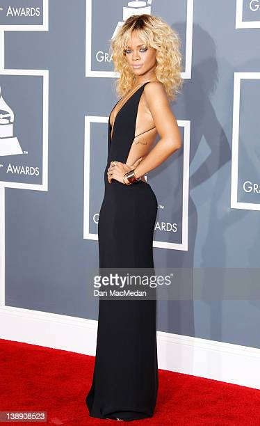 Singer Rihanna arrives at the 54th Annual GRAMMY Awards held at the Staples Center on February 12 2012 in Los Angeles California