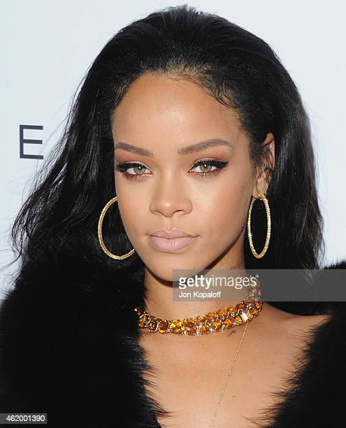 Singer Rihanna arrives at The Daily Front Row's 1st Annual Fashion Los Angeles Awards at Sunset Tower Hotel on January 22 2015 in West Hollywood...