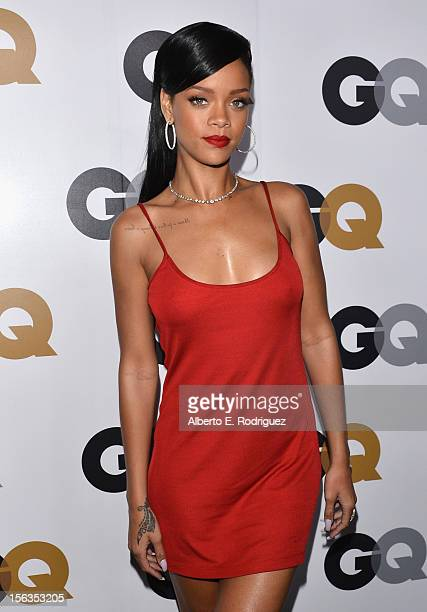 Singer Rihanna arrives at the GQ Men of the Year Party at Chateau Marmont on November 13 2012 in Los Angeles California