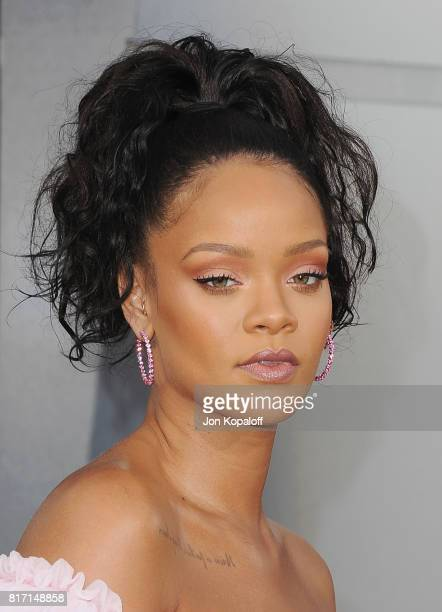 Singer Rihanna arrives at the Los Angeles Premiere 'Valerian And The City Of A Thousand Planets' at TCL Chinese Theatre on July 17 2017 in Hollywood...