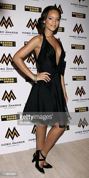 Singer Rihanna arrives at the MOBO Awards 2006 held at the Royal Albert Hall on September 20th 2006 in London England