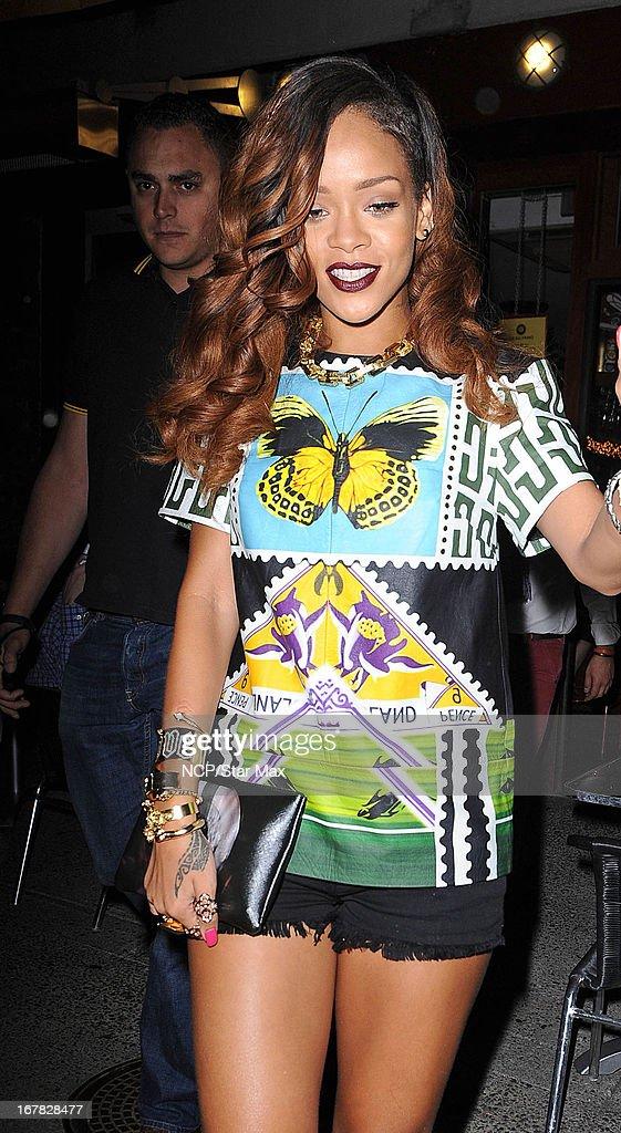 Singer Rihanna as seen on April 30, 2013 in New York City.