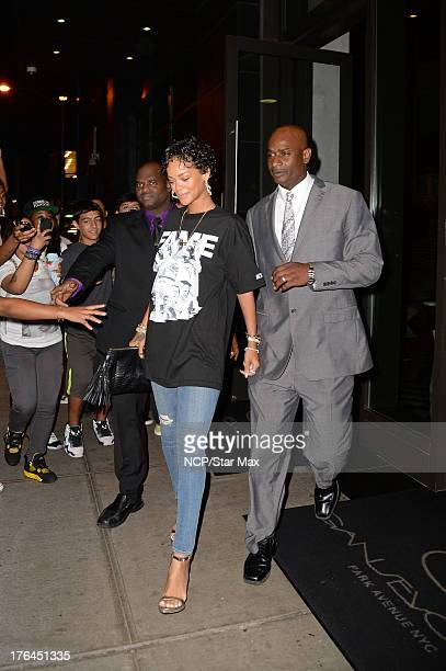Singer Rihanna as seen on August 12 2013 in New York City