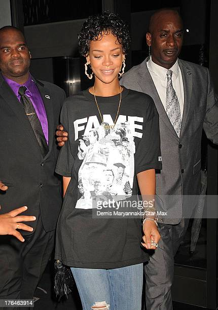 Singer Rihanna as seen on August 12, 2013 in New York City.