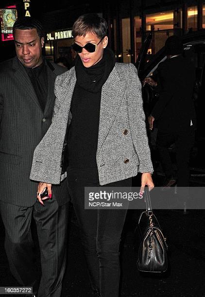 Singer Rihanna as seen on January 29 2013 in New York City