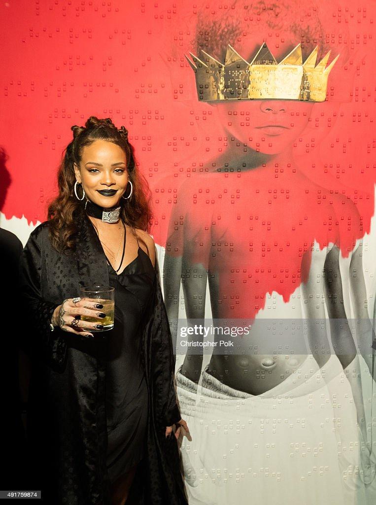 Singer Rihanna at Rihanna's 8th album artwork reveal for 'ANTI' at MAMA Gallery on October 7, 2015 in Los Angeles, California.
