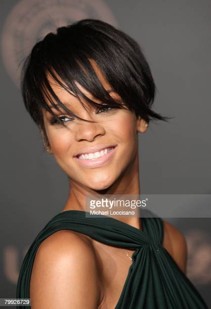 Singer Rihanna attends A Night To Benefit Raising Malawi UNICEF hosted by Madonna and Gucci at The United Nation in New York City on February 6 2008