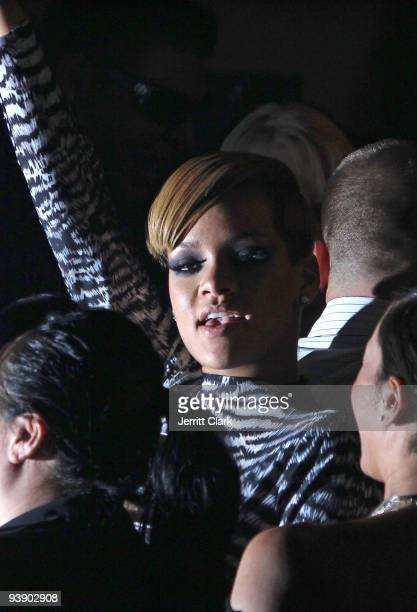 "Singer Rihanna attends her ""Rated R"" album release party at M2 Ultra Lounge on December 3, 2009 in New York City."