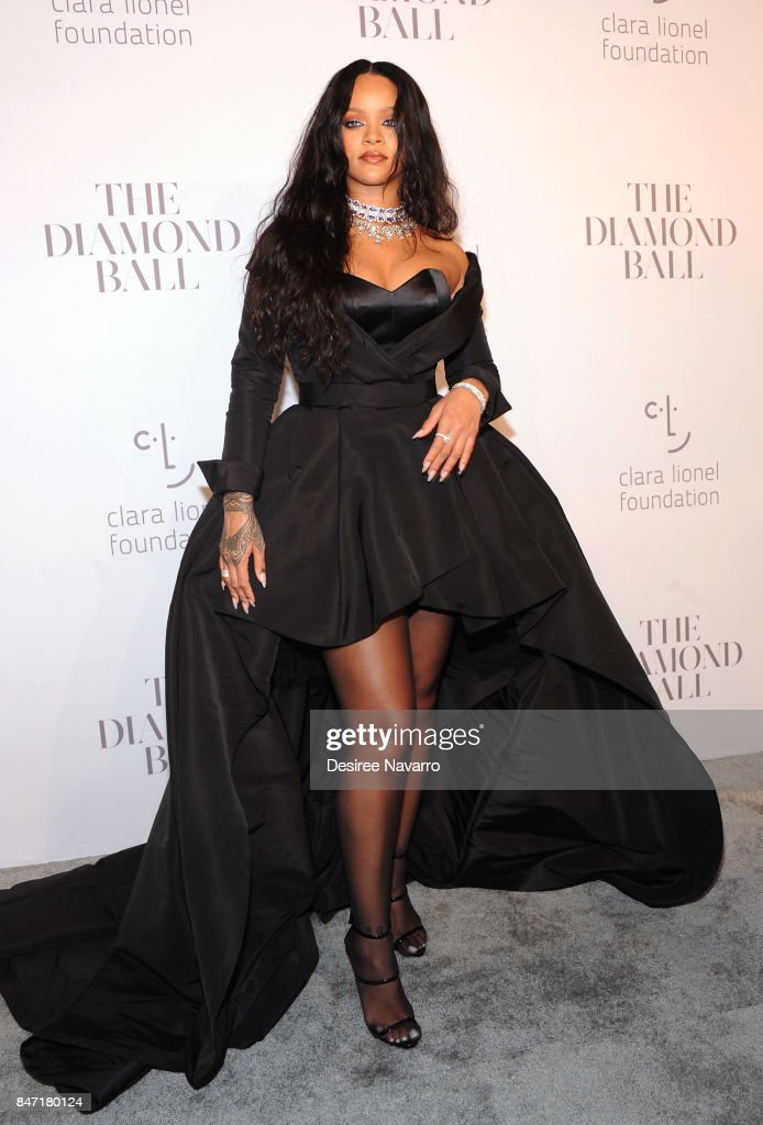 Singer Rihanna attends Rihanna's 3rd Annual Diamond Ball at Cipriani Wall Street on September 14, 2017 in New York City.
