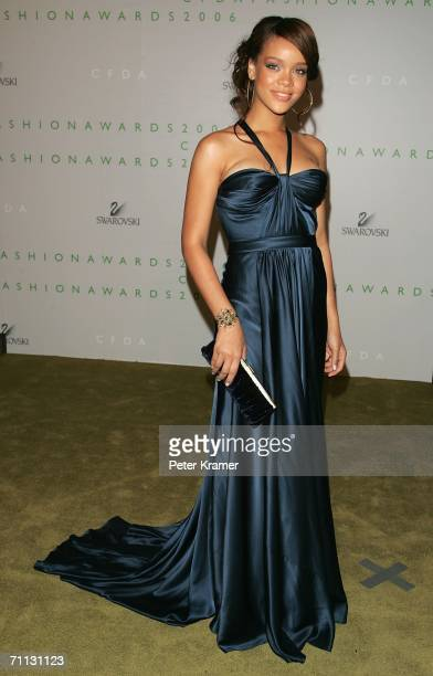 Singer Rihanna attends the 2006 CFDA Awards at the New York Public Library June 5 2006 in New York City