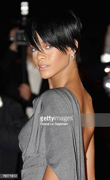 Singer Rihanna attends the 2008 NRJ Music Awards held at the Palais des Festivals on January 26 2008 in Cannes France