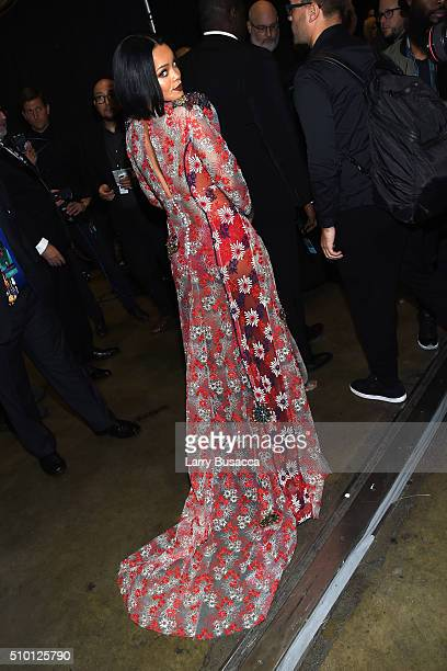Singer Rihanna attends the 2016 MusiCares Person of the Year honoring Lionel Richie at the Los Angeles Convention Center on February 13 2016 in Los...