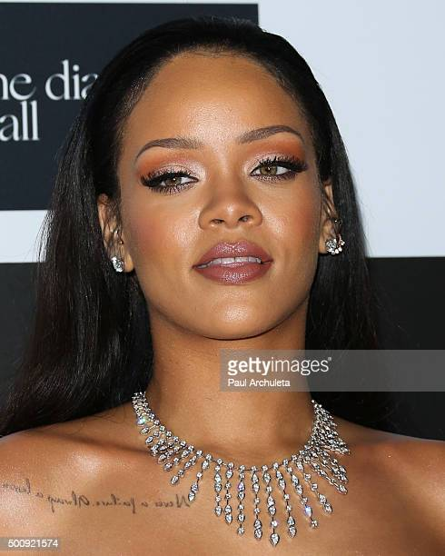 Singer Rihanna attends the 2nd Annual Diamond Ball at The Barker Hanger on December 10 2015 in Santa Monica California